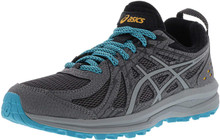Asics 1012A022 Women'S Frequent Trail Running Shoe, Carbon/Stone Grey - 9.5