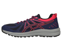 Asics 1012A022 Women'S Frequent Trail Running Shoe, Peacoat/Pixel Pink - 8