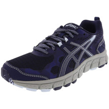 Asics 1012A039 Women'S Gel-Scram 4 Running Shoe, Peacoat/Soft Sky - 10 B(M) Us