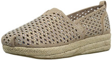 Bobs From Skechers Women'S Highlights-Glamsquad Wedge, Taupe Gem, 7.5 M Us