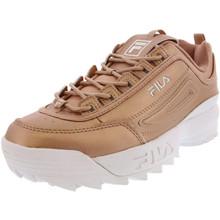 Fila Womens Disruptor Ii Premium Metallic Rose Gold/White Sneaker - 5.5