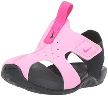Nike Toddler Kid'S Sunray Protect 2 Sandal, Psychic Pink/Laser Fuchsia/Black, 9 M Us Toddler