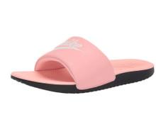 Nike Kids Girl's Kawa Slide (Little Kid/Big Kid) Bleached Coral/White/Black 4 M US Big Kid