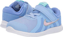Nike Kids Baby Girl's Revolution 4 (Infant/Toddler) Royal Pulse/Pink Foam/Aluminum 9 M US Toddler