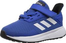 adidas Performance Baby Duramo 9 Running Shoe, Blue/White/Black, 8.5K M US Toddler
