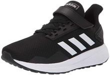 adidas Unisex-Kids Duramo 9 Running Shoe, Black/White/Black, 4.5 M US Big Kid