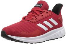 adidas Performance Unisex-Kids Duramo 9 Running Shoe, Scarlet/White/Black, 4 M US Big Kid