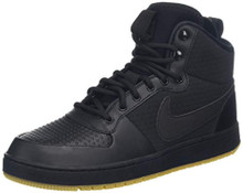 Nike Men'S Ebernon Mid Winter Shoe, Black/Black-Gum Light Brown, 8.5