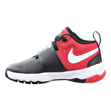 Nike Boy'S Team Hustle D 8 (Ps) Pre-School Basketball Shoe Black/White/University Red Size 12 Kids Us