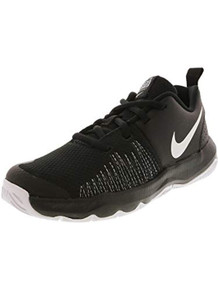 Nike Boy'S Team Hustle Quick (Ps) Basketball Shoe (2 Little Kid M, Black White)