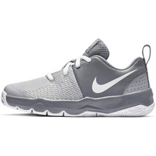 Nike Boy'S Team Hustle Quick Basketball Shoe, Cool Grey/White/Wolf Grey, 2 M Us Little Kid.