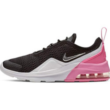 Nike Girl's Air Max Motion 2 (PS) Pre School Shoe Black/Metallic Silver/Psychic Pink/White Size 1 M US
