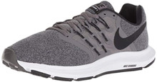 Nike Women'S Run Swift Sneaker, Gunsmoke/Black-White, 5 Regular Us