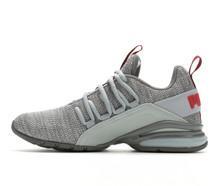 Puma Axelion Sneaker Quarry-Red Dahlia 4 M Us Big Kid