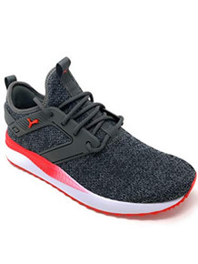 Puma - Mens Pacer Next Excel Variknit Shoes, Size: 8.5 D(M) Us, Color: Dark Shadow/High Risk Red