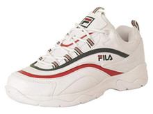 Fila Men's Ray Shoes Sneakers (13, White/Sycamore/Red)