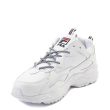 Fila Mens RAY Tracer Sneaker,White/Navy/RED,10