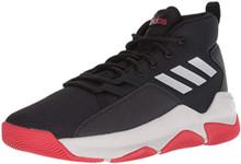 adidas Men's Streetfire Basketball Shoe, Black/Grey/Scarlet, 11 M US