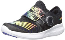 New Balance Boys' BKO V1 Running Shoe, Black/Rainbow, 2.5 M M US Little Kid
