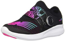 New Balance Girls' BKO V1 Running Shoe, Rainbow/Black, 1 M M US Little Kid