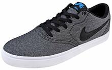 Nike Men's SB Check Solarsoft Canvas Skate Shoe (10.5 D(M) US, Grey/Black/Photo Blue/Black)