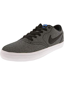 Nike Men's SB Check Solarsoft Canvas Skate Shoe (12 D(M) US, Grey/Black/Photo Blue/Black)