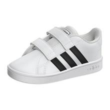 adidas Baby Grand Court Sneaker, Black/White, 4K M US Toddler