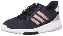 adidas Baby Racer TR Running Shoe, Legend Ink/Vapour Grey Metallic/aero Pink, 4K M US Toddler