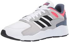 adidas Men's Chaos Sneaker, White/Black/Shock Red, 9 M US
