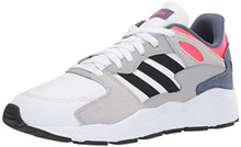 adidas Men's Chaos Sneaker, White/Black/Shock Red, 9.5 M US