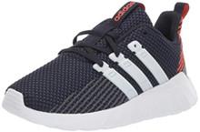 adidas Unisex Questar Flow Running Shoe, Dark Blue/White/Active Orange, 3 M US Little Kid