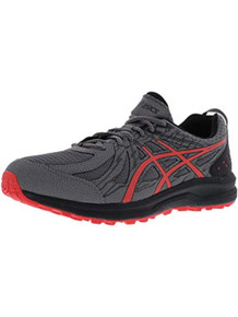 ASICS 1011A034 Men's Frequent Trail Running Shoe, Carbon/Red Alert - 14 D(M) US