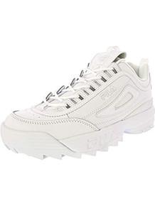 Fila Mens Disruptor Ll Premium Sneaker, White, Size 9.5