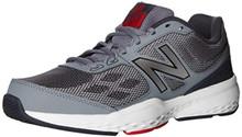New Balance Men's MX517v1 Training Shoe, Grey/Red, 10.5 4E US