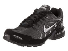 Nike Mens Air Max Torch 4 Running Shoes (9.5 D(M) US, Anthracite/Metallic Silver/Black) 9.5