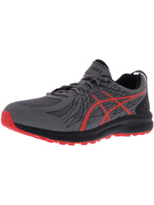 ASICS 1011A034 Men's Frequent Trail Running Shoe, Carbon/Red Alert - 13 D(M) US