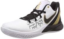 Nike Men's Kyrie Flytrap II Basketball Shoes, White/Metallic Gold-Black (US 12)