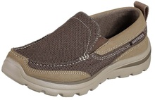 Skechers Boys' Relaxed Fit Superior Milford Loafer,Brown,US 4 M
