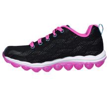 Skechers Girl's Skech-Air - Sparkle Jumper, Walking, Black/Hot Pink, 13.5 US M