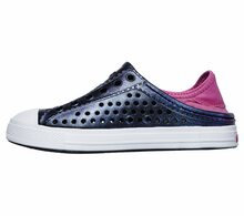 Skechers Girl's, Guzman Steps Slip on Shoes Purple HOT Pink 5 M
