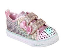 Skechers Kids Girls' Shuffle LITE-Mini Mermaid Sneaker, Gold, 8 Medium US Toddler