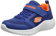 Skechers Kids Boys' Bounder 98302L Sneaker, Black/Blue, 5