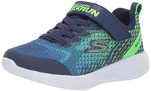 Skechers Kids Boys' GO Run 600-BAXTUX Sneaker, Navy/Lime, 6
