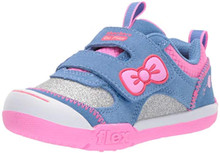 Skechers Kids Girls' Flex Play-Glitter Sunrise Sneaker, Blue/Hot Pink, 10 Medium US Toddler