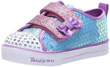 Skechers Kids Girls' Shuffle LITE-Mini Mermaid Sneaker, Turquoise/Multi, 8 Medium US Toddler