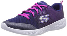 Skechers Kids Girl's GO Run 600-SPARKLE Speed Shoe, Navy/Pink, 3H Medium US Big Kid