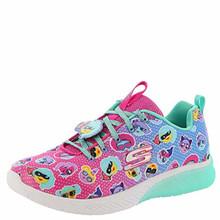 Skechers Skech Gem-TBD Girls' Toddler-Youth Sneaker 2.5 M US Little Kid Hot Pink-Multi