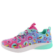 Skechers Girl's Skech Gem - Sport Squad, Training, Neon Pink,Multi, 4 US M Little Kid