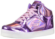 Skechers Kids Girl's Energy 10943L Lights (Little Kid/Big Kid) Pink/Purple 5 M US Big Kid