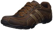 Skechers Men's Diameter 2-Guy Thing Oxford Sneaker,Brown Leather,9 M US